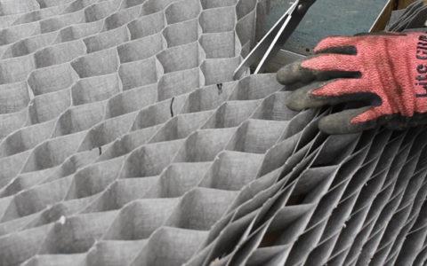 余分なグランドグリッド™は、ハサミで切ります。
